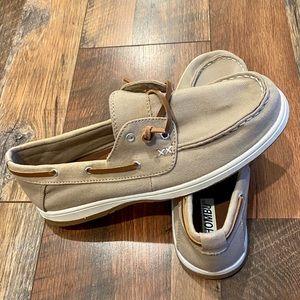 KHOMBU Women's Amber Cushioned Canvas Boat Shoes